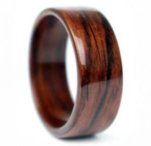 Rosewood Wooden Wedding Ring rosewood