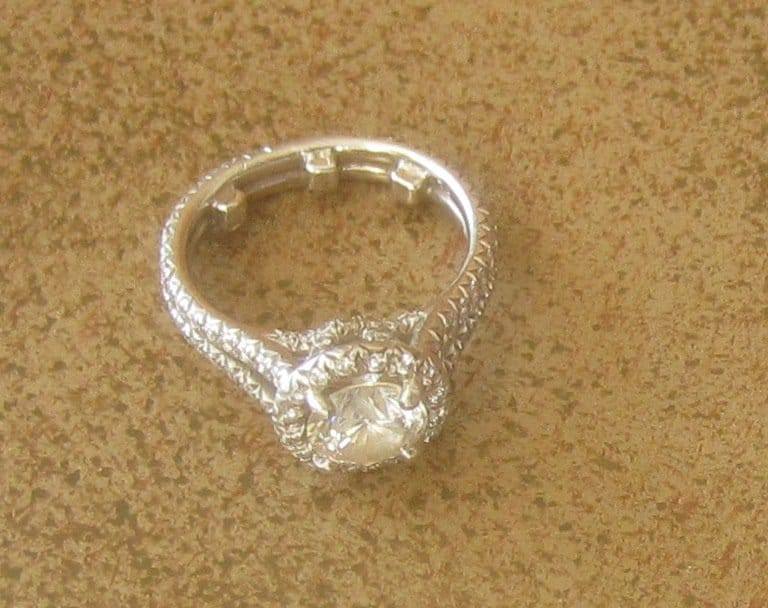 used engagement ring close up love you tomorrow - Used Wedding Rings