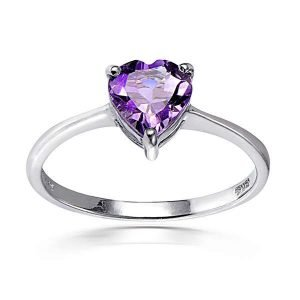 Glitzy-Rocks-Sterling-Silver-Heart-cut-Gemstone-Solitaire-Ring