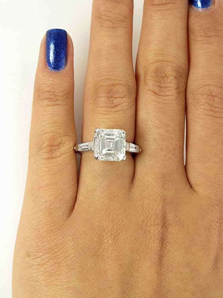 Where To Get The Best Asscher Cut With Tapered Baguette