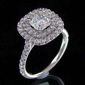 cushion cut diamond engagement ring 2 ct