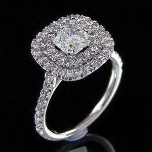 cushion cut diamond engagement ring 2 ct