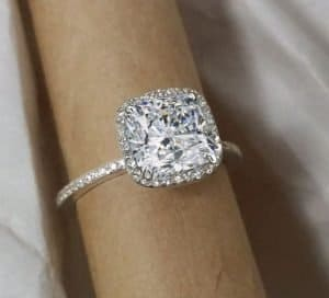 cushion cut diamond engagement ring romantic soft timeless