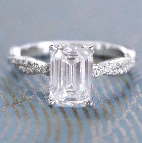about the emerald cut general information - Emerald Cut Wedding Rings