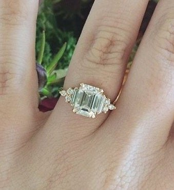 emerald cut engagement rings pros and cons - Emerald Cut Wedding Rings