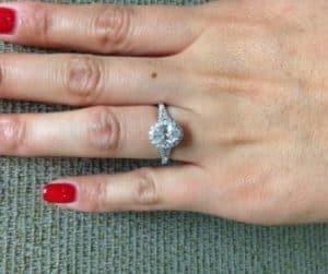 oval bowtie diamond ring