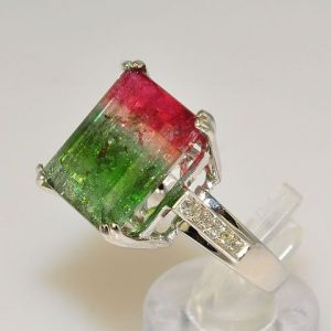 watermelon engagement ring
