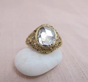 2.00ct Antique Rose Cut Diamond Dome Ring 7-S