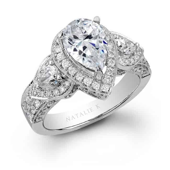 princess cut engagement rings pros and cons about the pear cut general information - Teardrop Wedding Ring