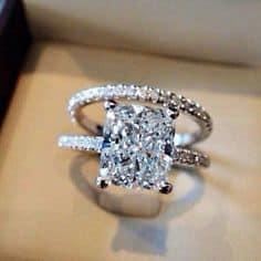 radiant engagement ring