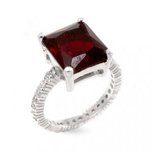 ruby radiant cut 4 prong