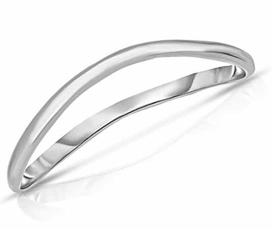 Thin Comfort Fit Curved Wave Thumb Ring