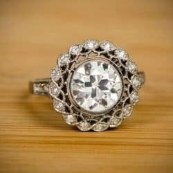 edwardian era vintage style engagement ring openwork