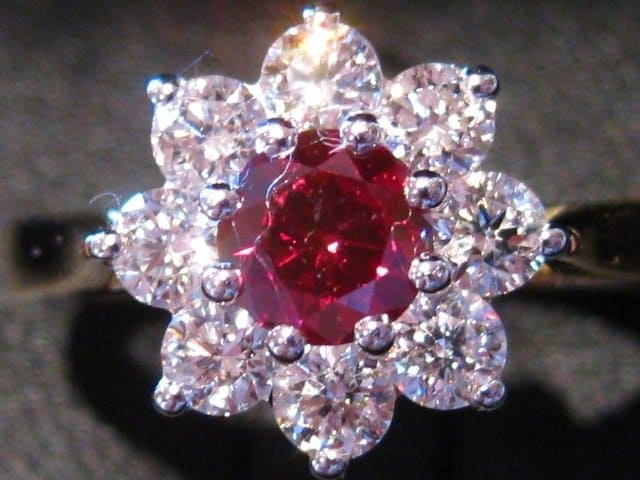 red diamond flower