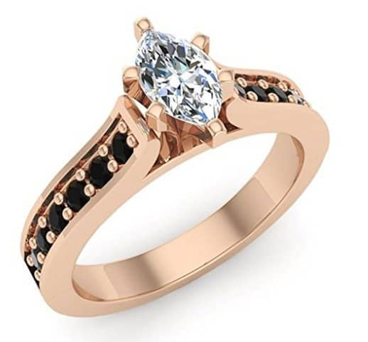 Ct White Gold Half Carat Marquise Halo Diamond Ring
