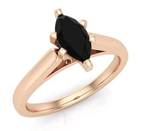 marquise-cut-black-diamond-engagement-rings-14k-gold-black