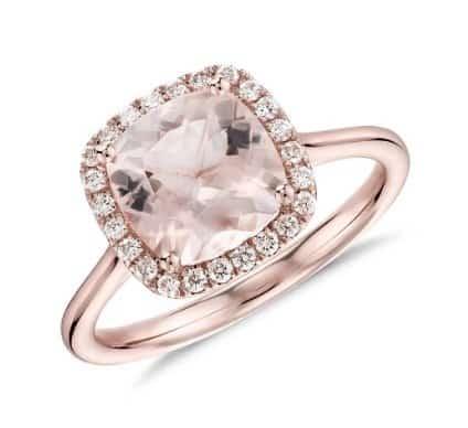 morganite-and-diamond-halo-cushion-ring