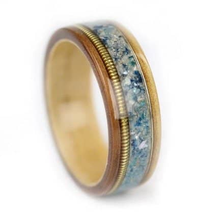 provided-wood-guitar-strings-mother-of-pearl-sea-glass-sapphire-custom-ring