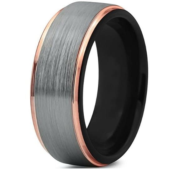 tungsten wedding band ring 8mm for men women - Tungsten Wedding Rings For Men