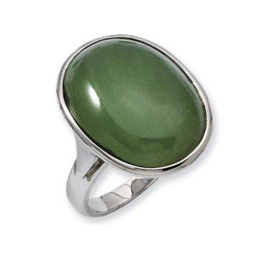 womens-stainless-steel-green-aventurine-ring-jewelry