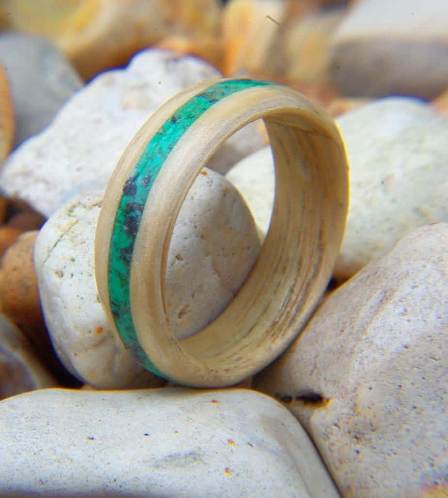 and petrified dinosaur wedgewood agatized cobalt wood ring bone engagement img purchase rings