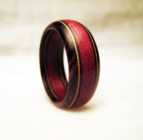 Types of wood for rings part purple heart to zebrawood
