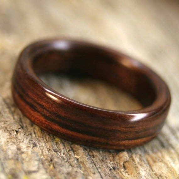 Mens Wooden Wedding Bands Canada: Types Of Wood For Rings Part 3, Purple Heart To Zebrawood