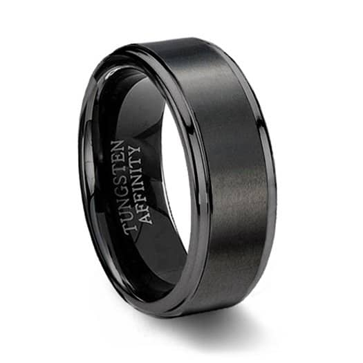 Tungsten Peridot Ring