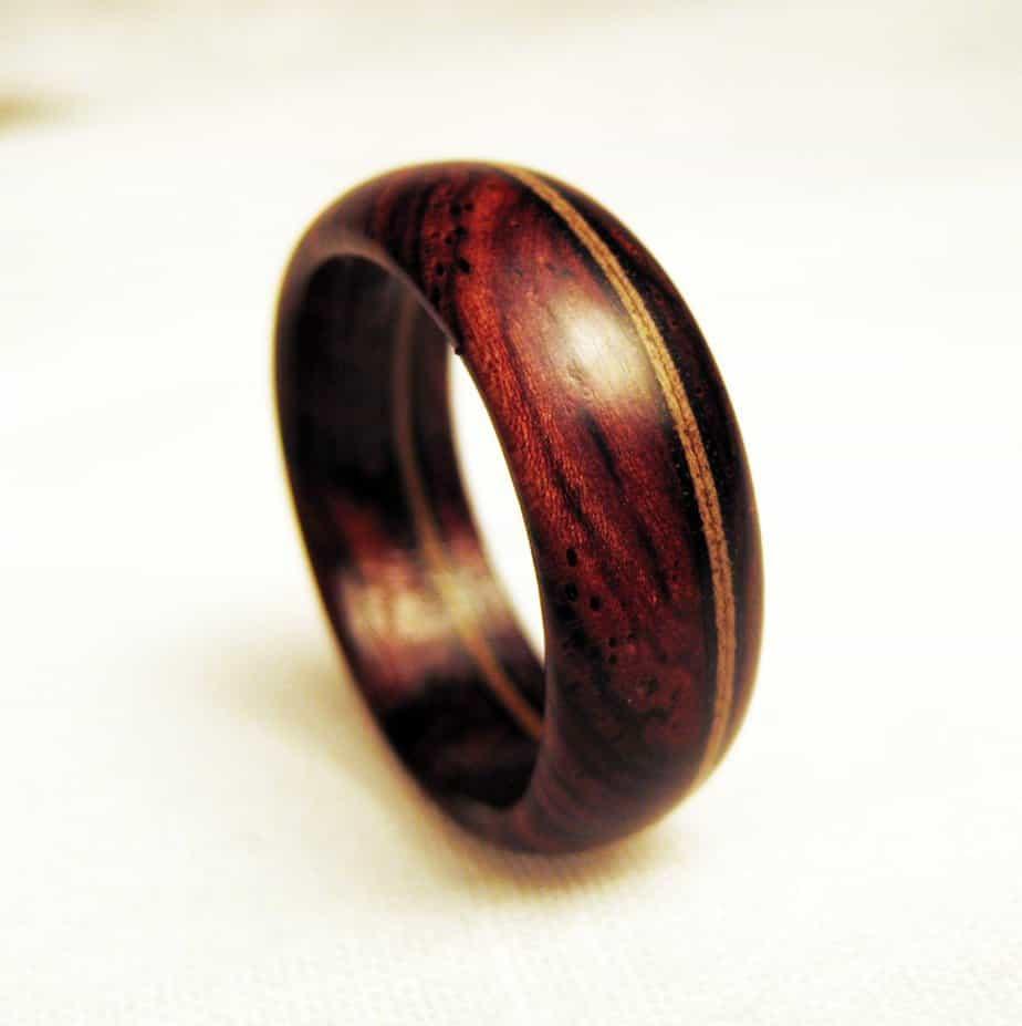 mens wood inlay wedding rings etsy mens wedding bands Mens wood inlay wedding rings Types Of Wood For Rings Part 2 Kauri Pearwood