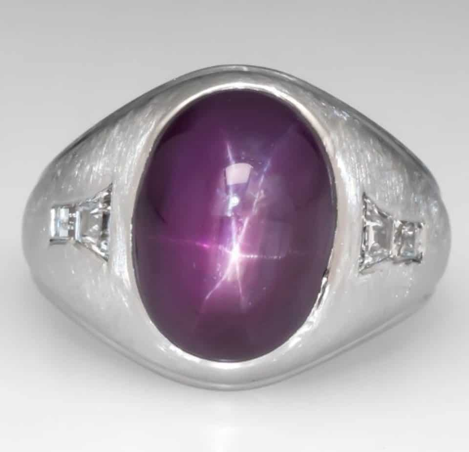 11-carat-vintage-unheated-star-ruby-mens-ring-in-platinum
