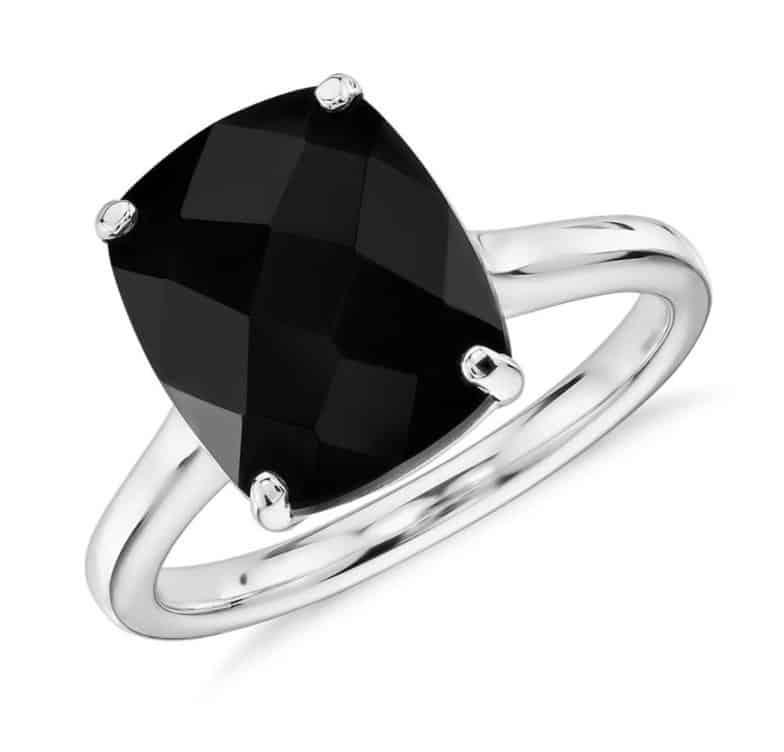 black-onyx-cushion-cocktail-ring