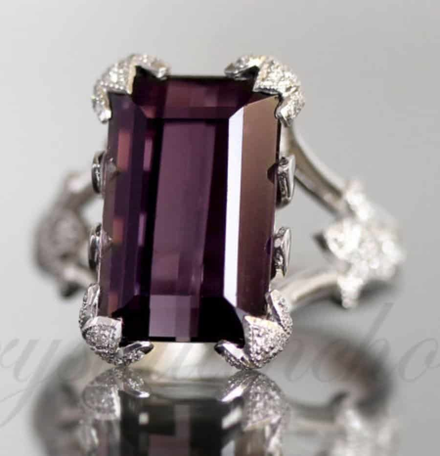 gia-certified-18k-white-gold-natural-purple-siberite-tourmaline-diamond-ring