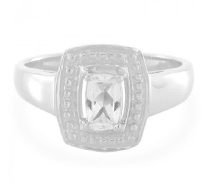 goshenite-silver-ring