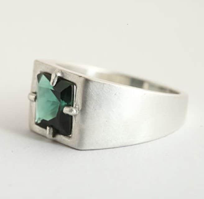 green-zircon-ring-for-men-in-sterling-silver