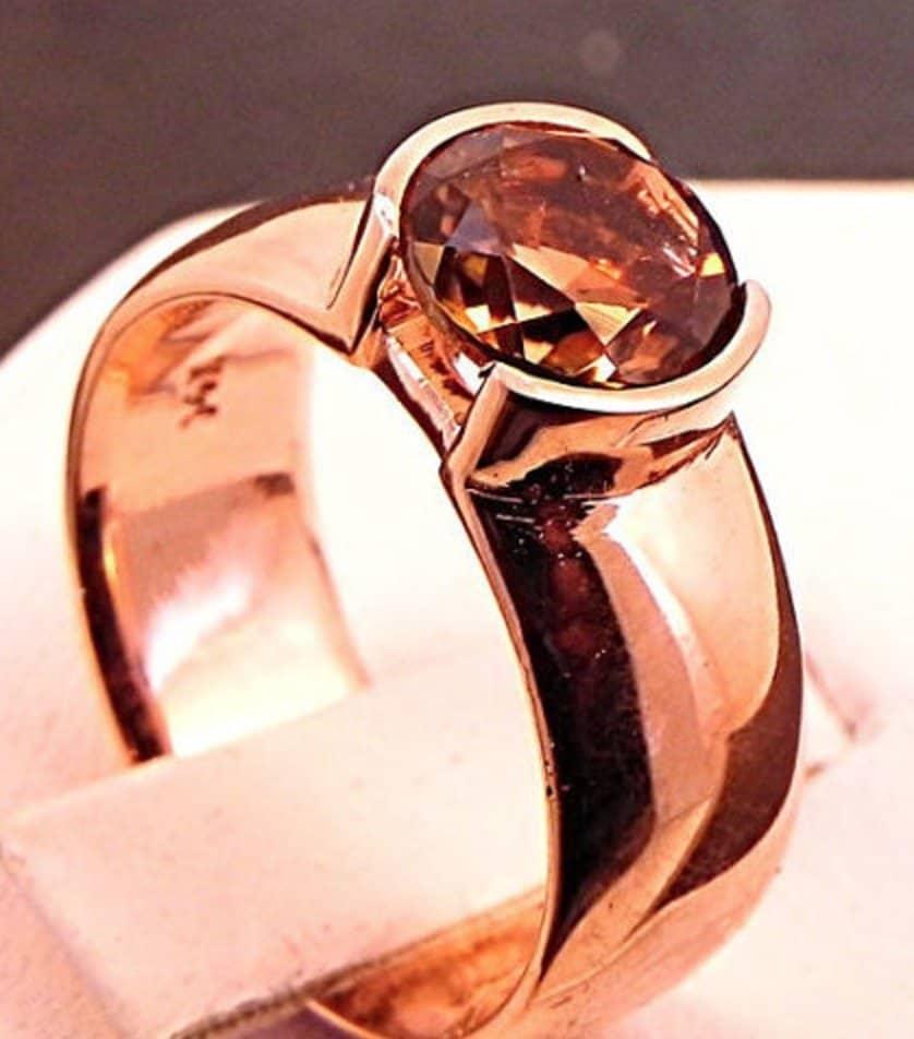 light-brown-dravite-tourmaline-7-00mm-1-46-carat-in-14k-rose-gold-ring