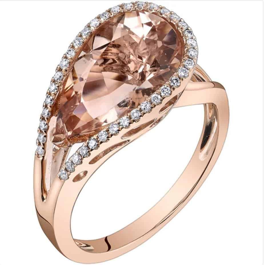 oravo-14k-rose-gold-4-1-4ct-tgw-pear-cut-morganite-and-1-6ct-tdw-diamond-ring