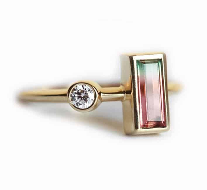 tourmaline-ring-baguette-diamond-ring-bi-color-tourmaline-diamond-ring-asymetrical-ring