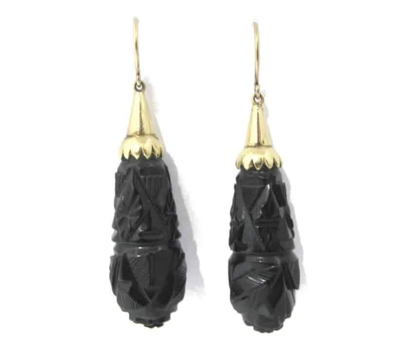 victorian-carved-jet-earrings