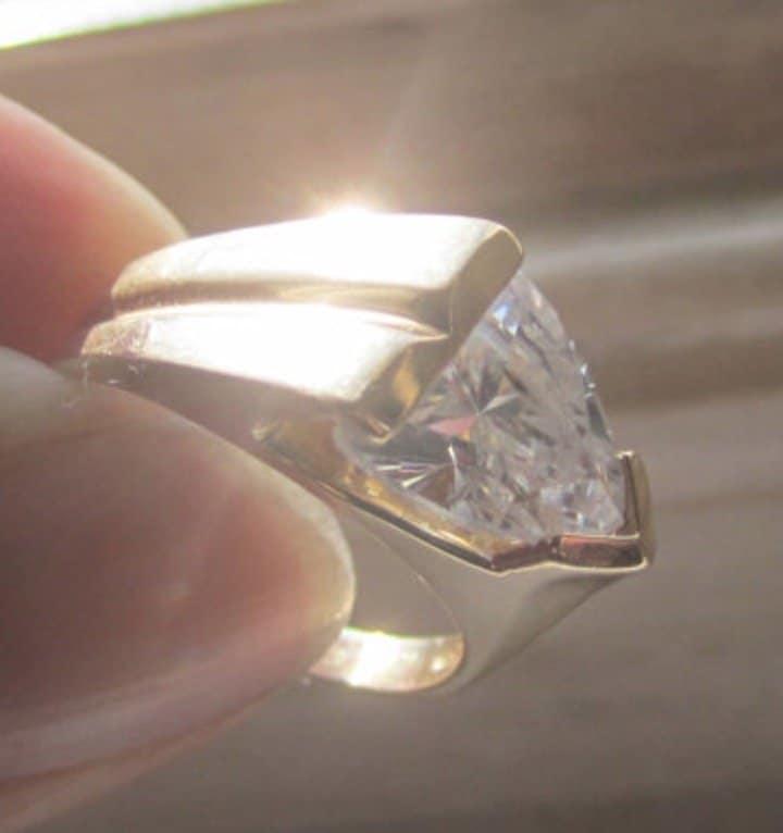 vintage-rare-clyde-duneier-colorless-trillion-cut-tourmaline-achroite-unisex-wedding-band-ring-14k-gold-designer