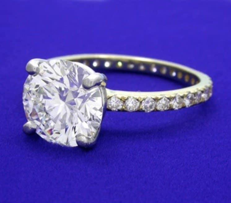 3 Carat Round Brilliant Cut Diamond ring