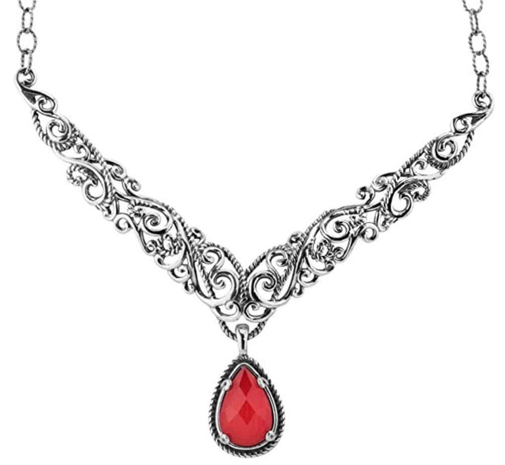 Carolyn Pollack Sterling Silver Doublet Necklace and Pendant