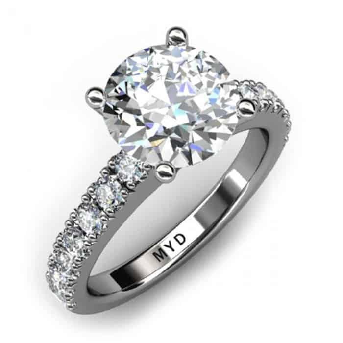 Infinity Round Brilliant Cut Diamond Ring