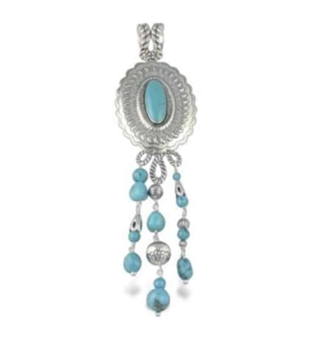 Sterling Silver Turquoise Concha Pin Pendant review