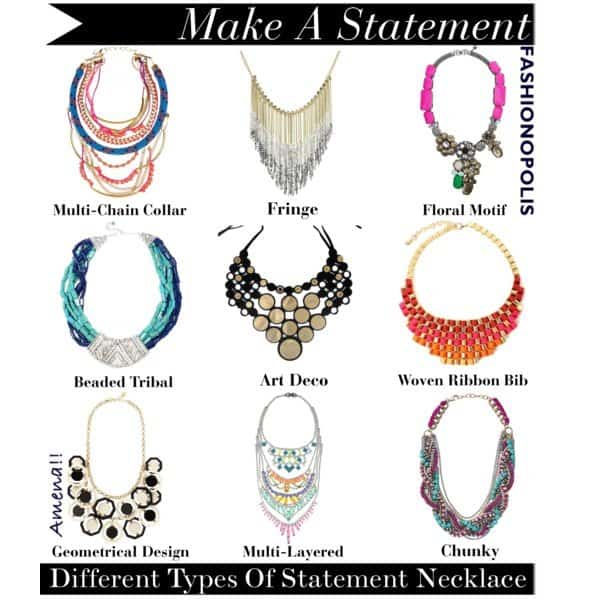 types of statement necklaces