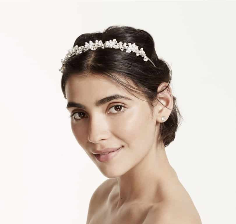 Crystal and Pearl Flower Bridal Headband