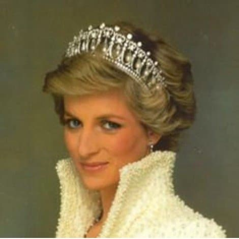 Princess Diana Di Tiara, Royal Hearts, Princess of Wales, Bridal Tiara, Wedding