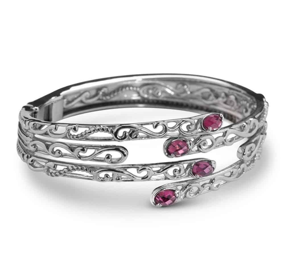 Relios by CP Rhodolite Garnet Interlock Bracelet