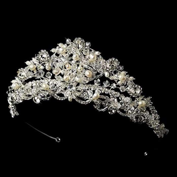 Stunning Swarovski and Freshwater Pearl Wedding Bridal Tiara