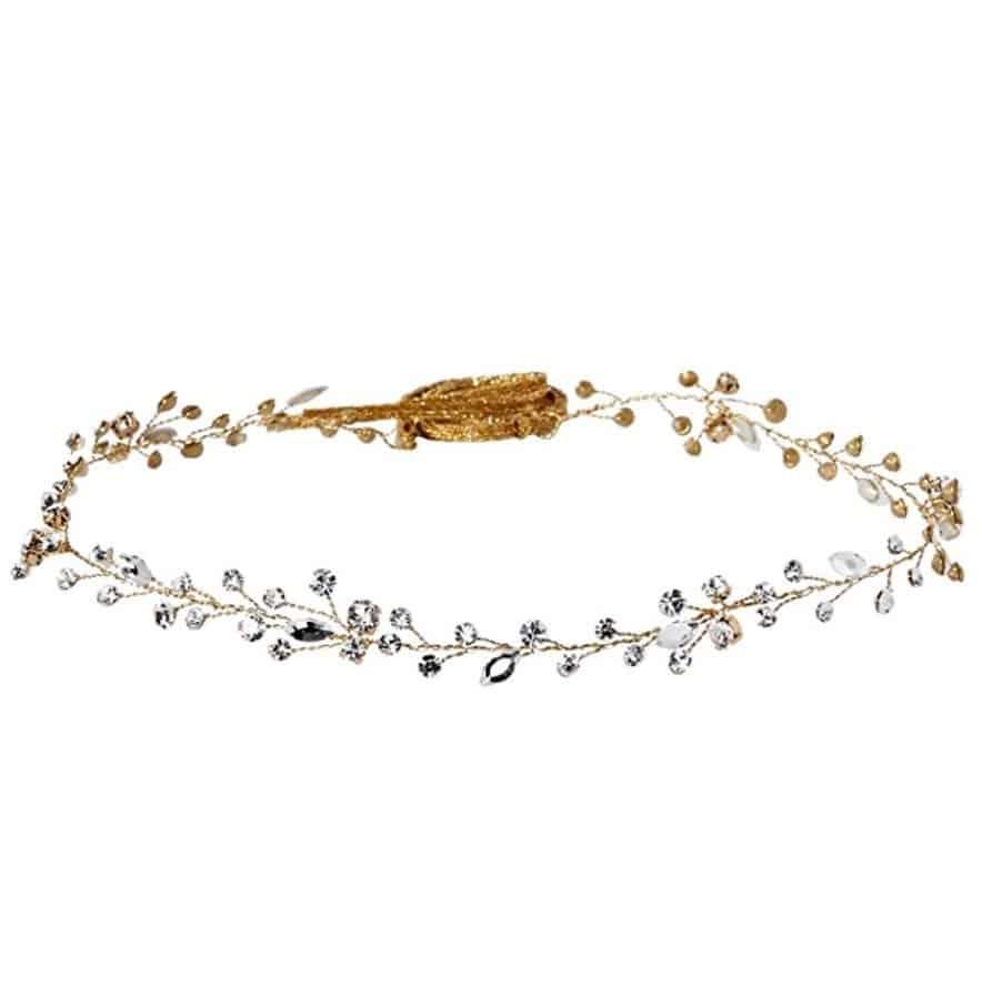 Twigs & Honey Women's Simple Crystal Hair Vine Bridal Hairpiece