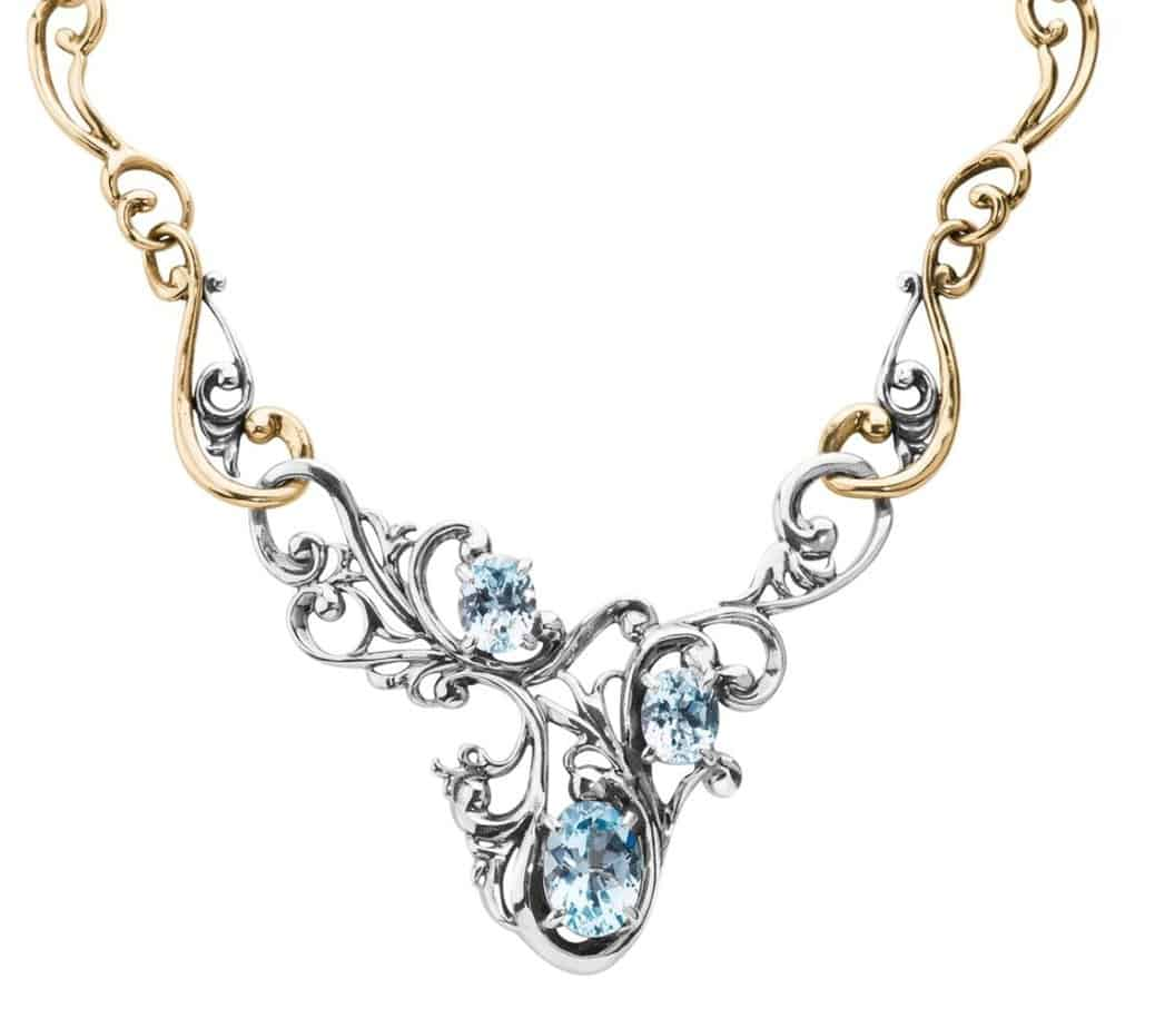 carolyn pollack Harmony Blue Topaz Statement Necklace